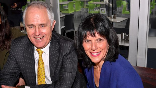 Malcom Turnbull and Julia Banks together in the electorate of Chisholm after the election.