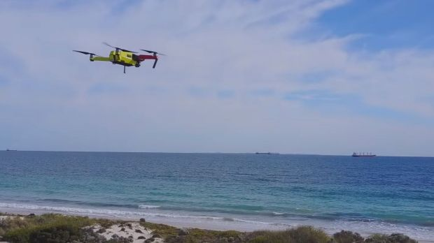 App developers test public drone shark patrols over perth for Drone surf fishing