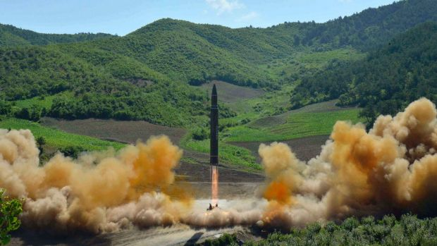 N. Korean missile passes through Japanese airspace