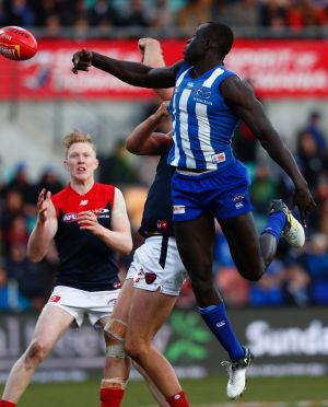 Up above: North's Majak Daw was important late in the game.