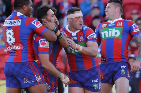 Drop the spoon: Newcastle have revived hopes of avoiding the wooden spoon with an upset win over St George-Illawarra.