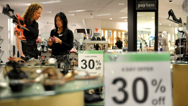 Umbers' declared policy that Myer would not feed sales-addicted customers with relentless discounting has morphed ...