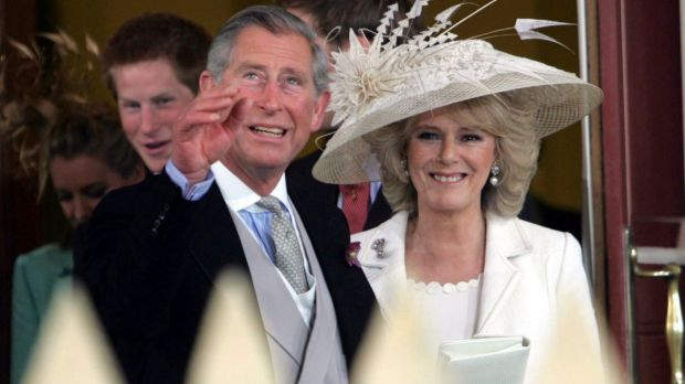Prince Charles on his wedding day with Camilla Parker Bowles. Diana says the relationship was sanctioned by Prince Philip.