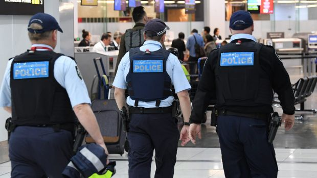 Increased airport security at Melbourne Airport in light of the Sydney terror plot.