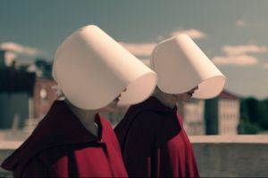 Hulu's <i>The Handmaid's Tale</i> marks a changing of the guard as the Emmy for best drama series goes to a streaming ...