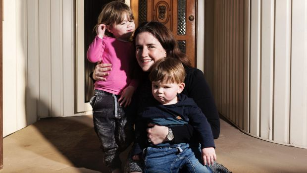 Kate Murphy with her son Micheal and daughter Sarah at their home in Oyster Bay.