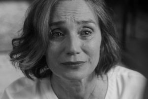 Kristin Scott Thomas in Sally Potter's latest film, The Party.