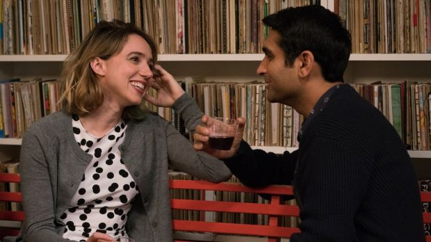 Zoe Kazan as Emily and Kumail Nanjiani as Kumail are natural ironists in 'The Big Sick'.