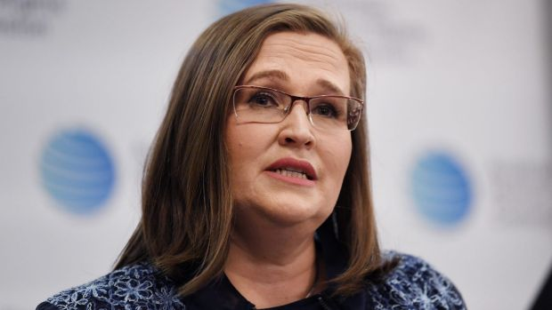 Sex Discrimination Commissioner Kate Jenkins speaks as a report into sexual assaults and harassment in Australian ...