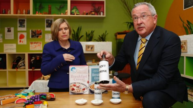 NSW Chief Health Officer Dr Kerry Chant and Health Minister Brad Hazzard at the launch of the 'What NSW Children Eat and ...