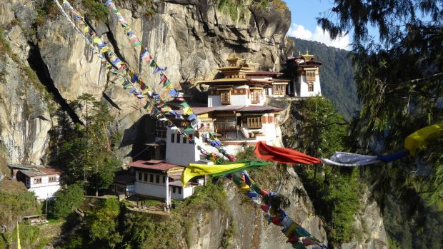 The Taktsang Monastery in Bhutan.