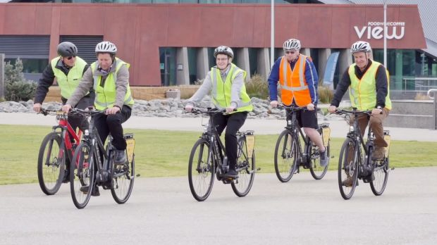 The participants had free use of an 'e-Bike' for their commute to and from work for the 10 weeks.