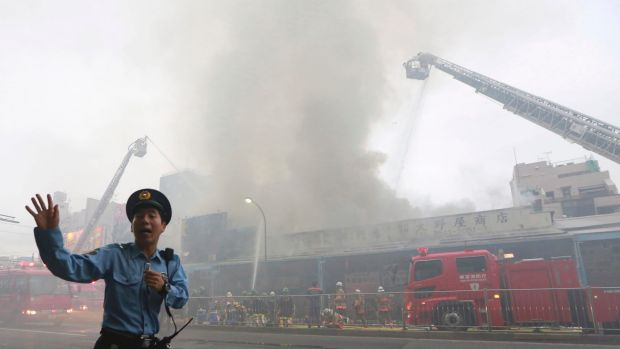 Huge fire breaks out at world's largest fish market in Tokyo