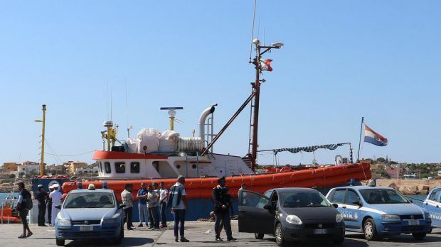 Italian authorities allege the Iuventa crew took on migrants directly from smugglers' boats near Libya's coast.