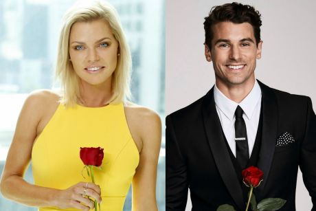 This year's Bachelorette Sophie Monk and Bachelor Matty Johnson.