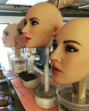Customers can choose the robot's eye colour, nipple shape and fingernail type.