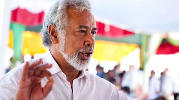 Former prime minister Xanana Gusmao led the negotiations for East Timor at The Hague.