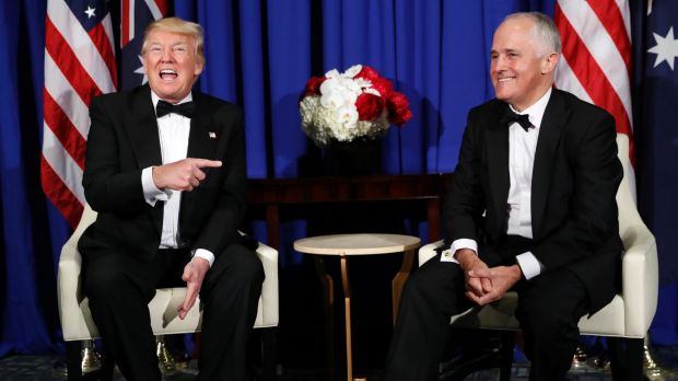 Donald Trump and Malcolm Turnbull when they met in May 2017.