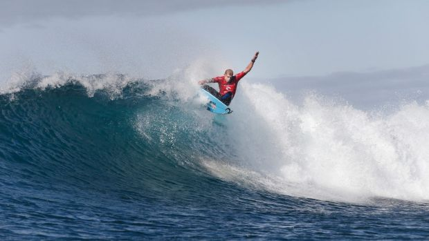 Knocked out: Mick Fanning.
