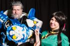 Canberra's own pop culture festival, Gammacon. From left, Maddison Turner as Velvet Scarlatina, Chris Schofield as ...