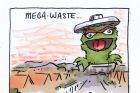 'Mega-waste' we see a huge Grouch rise from the horizon