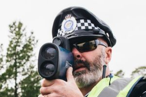 Fines should be determined on how much people earn. First constable Rob Smith using a speed camera.