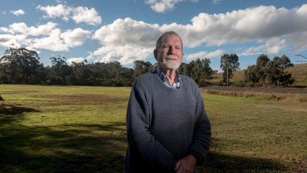 Former VicRoads planning engineer and Eltham Community Action Group member John Graves in Diamond Creek on Sunday.