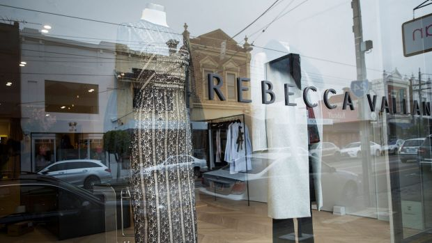 The new Rebecca Vallance clothing store on High Street in Armadale.