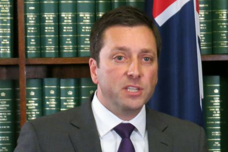 Victorian Opposition Leader Matthew Guy during a press conference at Parliament House, Melbourne, Tuesday, August 8, ...