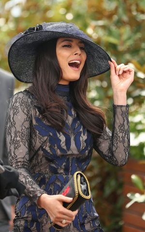 Jessica Gomes at the races on Caulfield Cup Day last year.