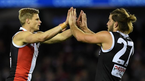 Nick Riewoldt and Josh Bruce.