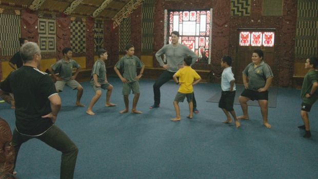 Children learn haka from a young age in New Zealand.