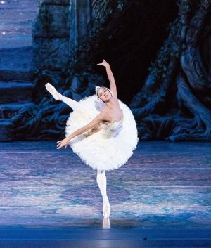 """Misty Copeland performs in """"Swan Lake"""" at the Queensland Performing Arts Centre in 2014."""