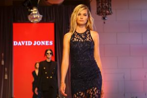 Dress rehersal of the David Jones 2017 Spring Summer collection. Australian Supermodel Bridget Malcom.