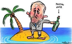 Malcolm Turnbull is all at sea on same-sex marriage. Illustration: Matt Davidson