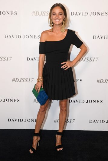 Fashion It girl, Nadia Fairfax, in By Johnny on the David Jones black carpet.