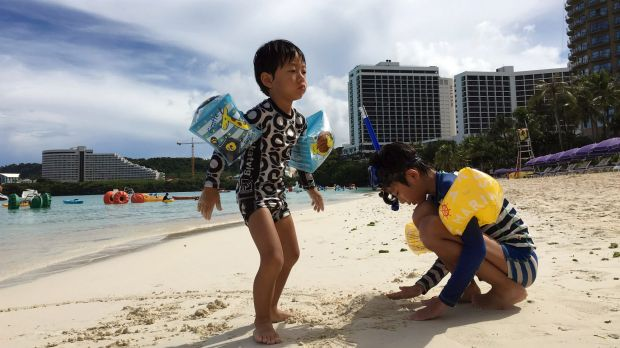 Life continues on Guam, which has been the focus of North Korean threats in the past.