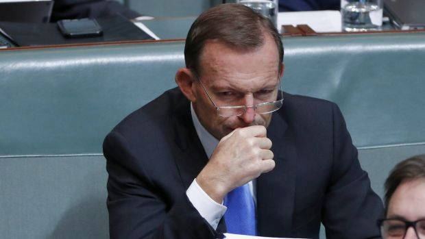 Former prime minister Tony Abbott during question time on Thursday.