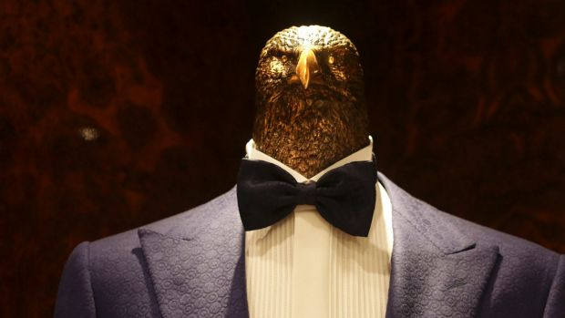 The company even uses bronze eagle heads in place of the standard human ones for its in-store mannequins