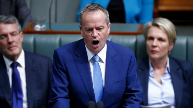 Opposition Leader Bill Shorten speaks after question time on Thursday.