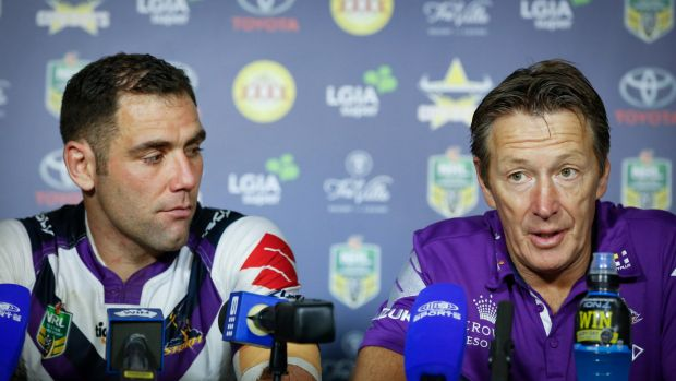 Masters: Storm captain Cameron Smith and coach Craig Bellamy.