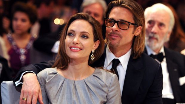 Brad Pitt and Angelina attend the charity event Cinema for Peace in 2012.