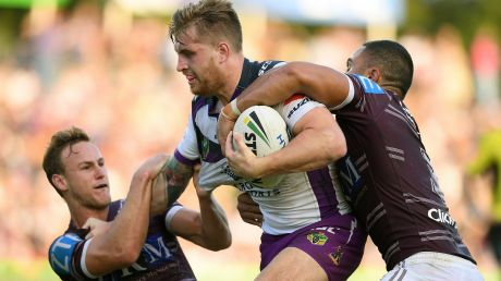 Returning: Melbourne Storm will welcome back Cam Munster for the clash with Newcastle this weekend.