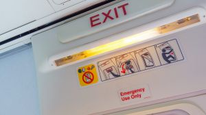 Aircraft doors have many safety measures attached.