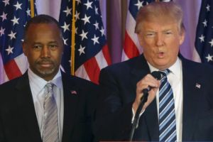 Ben Carson, March 11, 2016, just moments before announcing he would endorse Donald Trump.