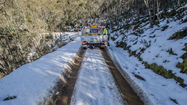 Transport Canberra and City Services? Project Officer Adam Melville looks after icy or snow affected roads in the ...