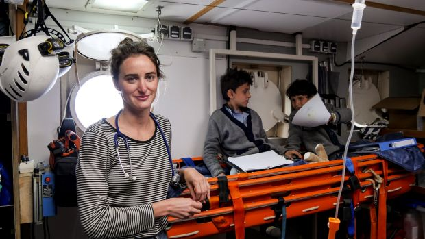 Dr Stefanie Pender volunteered to save lives by joining German group Sea-Watch in the Med.