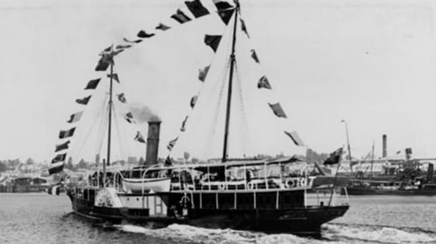 The Lucinda during a cruise on the Brisbane River.