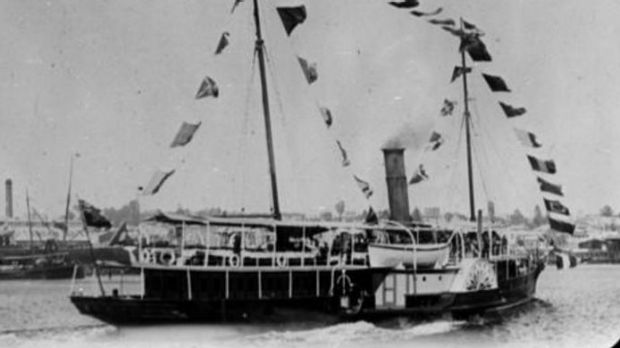 The Queensland government yacht, the Lucinda, which played a surprise role in the Australian Constitution.