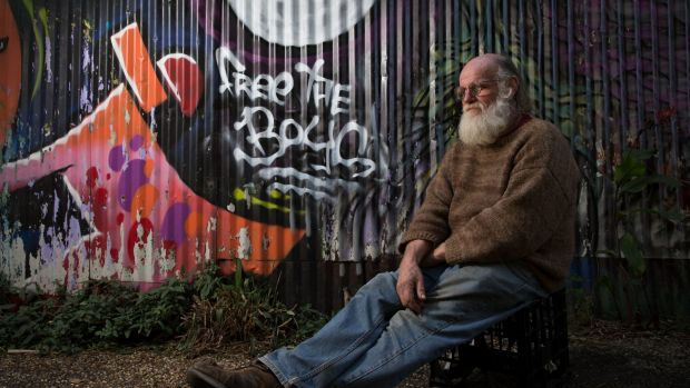 Michael Balderstone, President of Australian Hemp Party and Nimbin Hemp Embassy in Nimbin, NSW, a town where 29 young ...